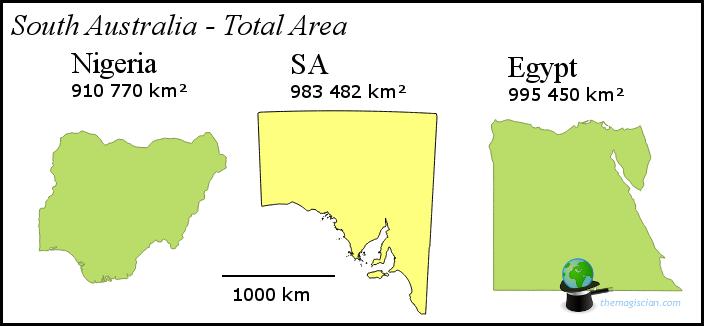 South Australia - Size
