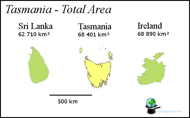 Tasmania - Size
