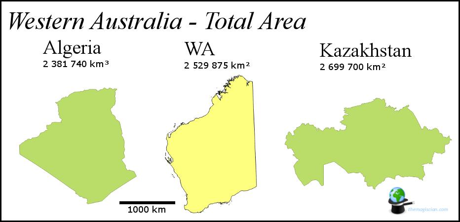 Western Australia - Size