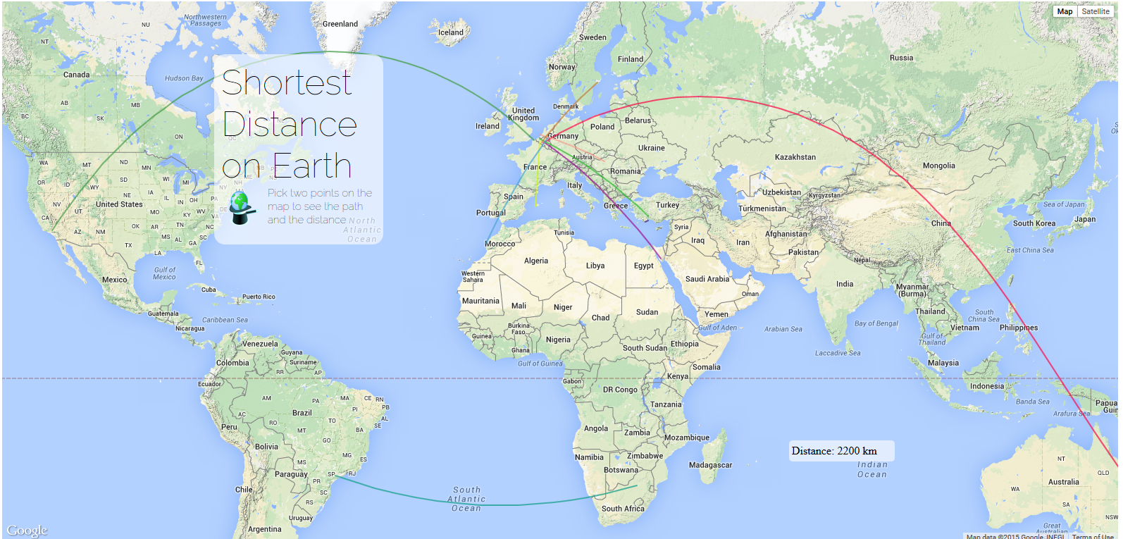 Shortest Distance Google Maps
