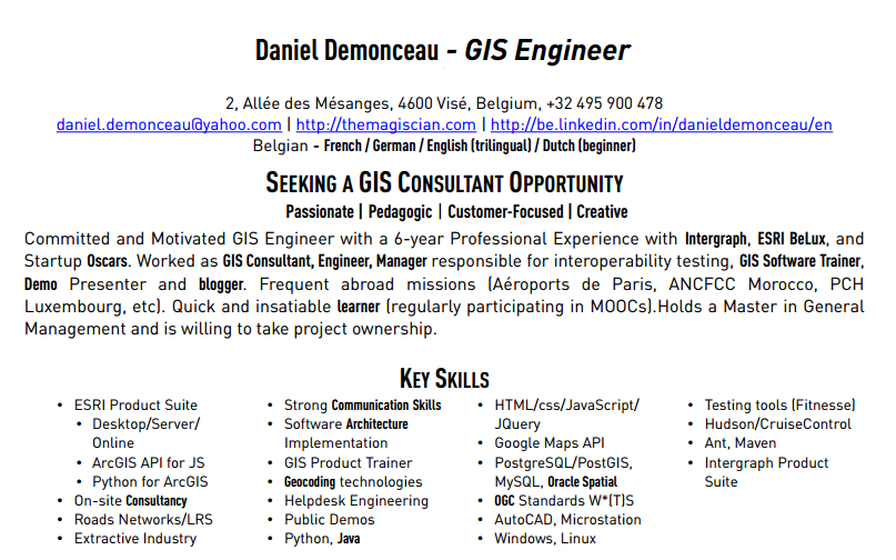 I want to work for your GIS Missions - The Magiscian